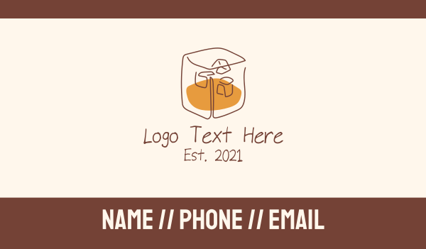 drinking - Bourbon Whiskey Liquor Drink Business card horizontal design