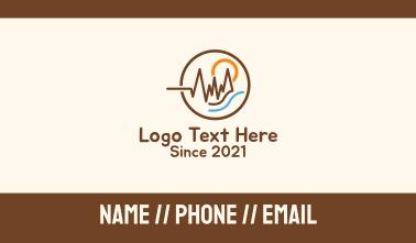 Outdoor Lifeline Scenery Business Card