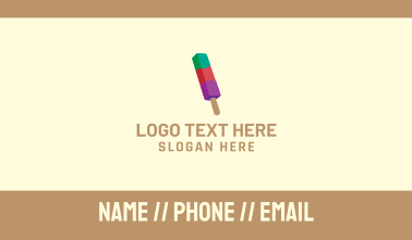 Colorful Popsicle Business Card