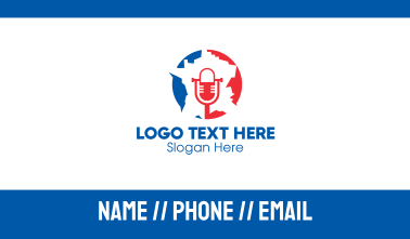 France Microphone Broadcast  Business Card