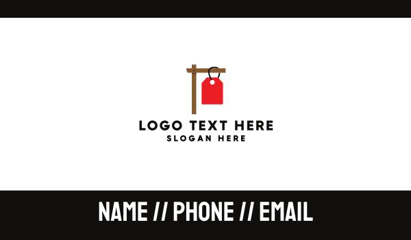 coupon - Sign Hangtag Business card horizontal design