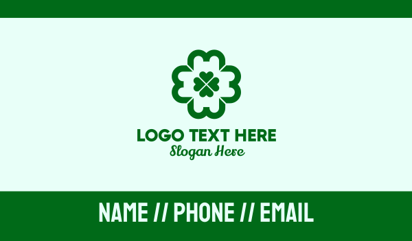 pharmaceutics - Green Clover Cross Business card horizontal design