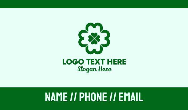 drugmaker - Green Clover Cross Business card horizontal design