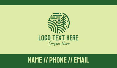 Minimalist Pine Forest  Business Card