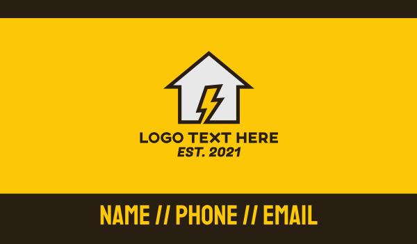 voltaic - Home Electricity Business card horizontal design