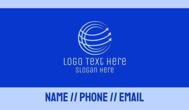 Minimalist Globe Arrow Business Card