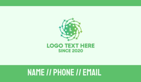 vaccine - Airborne Virus Lettermark Business card horizontal design