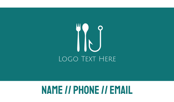 spoon - Seafood Hook Restaurant Business card horizontal design