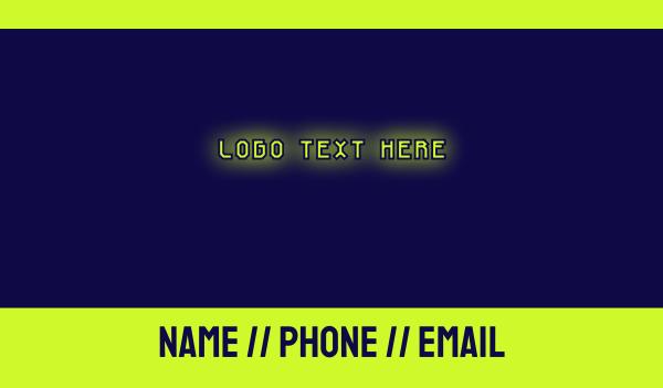 chemistry - Toxic Glow Business card horizontal design