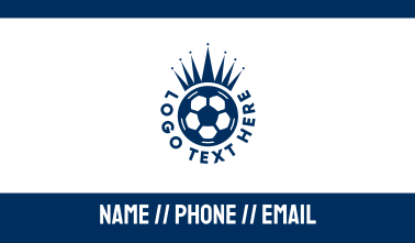 Soccer Ball King Crown  Business Card