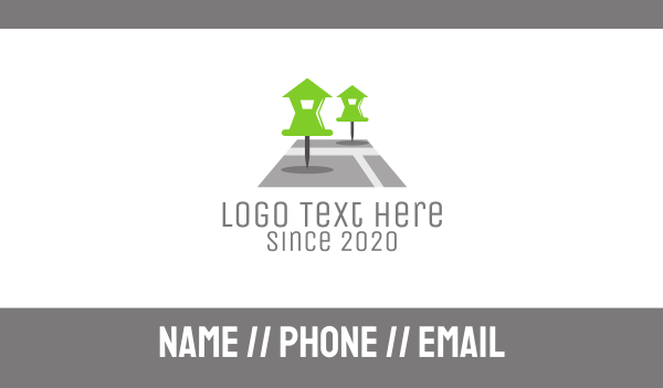 tracker - House Pin Business card horizontal design