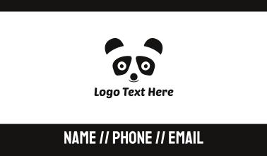 Panda Bear Kids Business Card