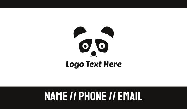 panda - Panda Bear Kids Business card horizontal design