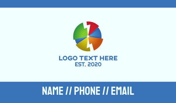 Electric Pie Chart Business Card Maker