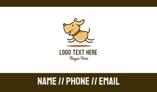 Happy Cartoon Dog Business Card