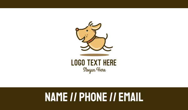 veterinary clinic - Happy Cartoon Dog Business card horizontal design