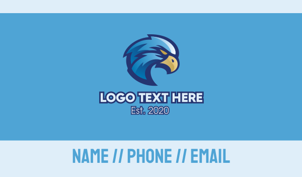 sport - Blue Eagle Sports Mascot Business card horizontal design