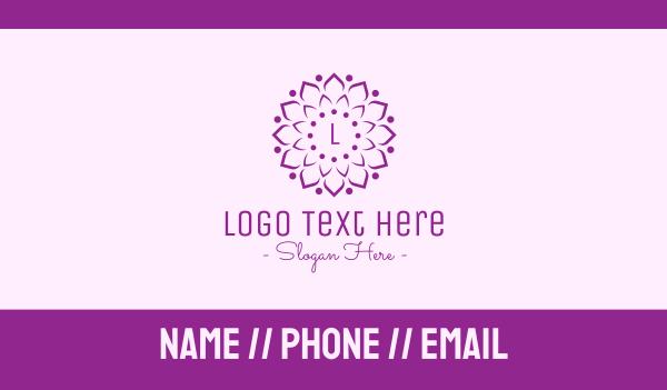 marigold - Decorative Elegant Flower Business card horizontal design