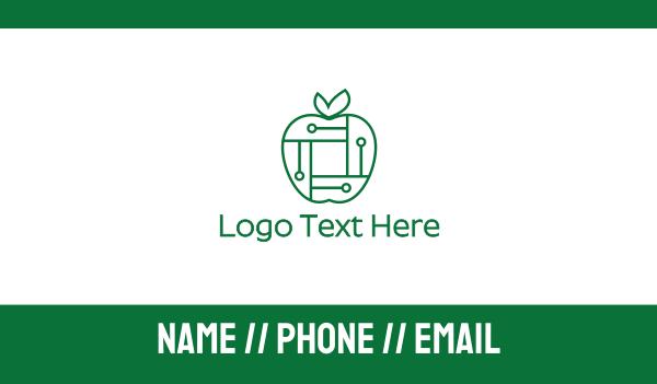 chipset - Digital Tech Apple Business card horizontal design