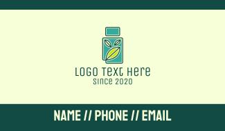 Organic Medicine Bottle Business Card