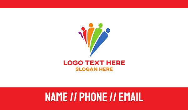 crowd - Diverse People Business card horizontal design