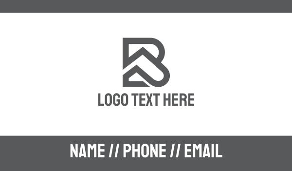 bp - Grey BP Outline Business card horizontal design