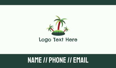 Tropical Island Trees Business Card