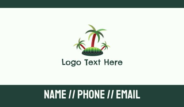 pinoy - Tropical Island Trees Business card horizontal design