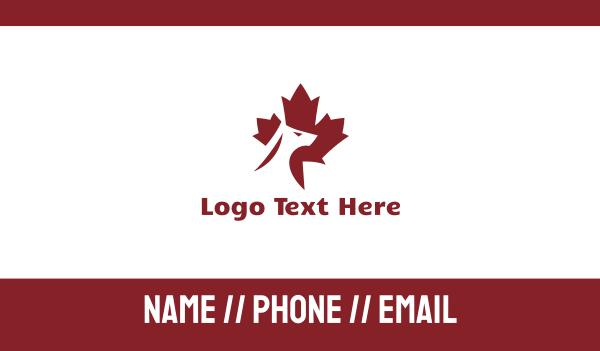 watchdog - Red Canadian Dog Business card horizontal design