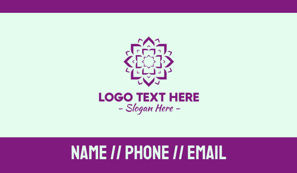 yoga training - Yoga Lotus Studio Business card horizontal design