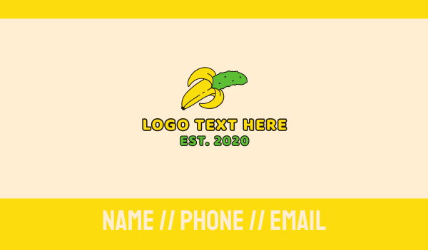peel - Banana Pickle Business card horizontal design