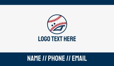 Baseball Sport Mascot Business Card