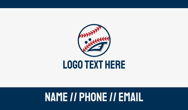 baseball - Baseball Sport Mascot Business card horizontal design
