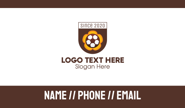 tourney - Soccer Football Club Crest Business card horizontal design