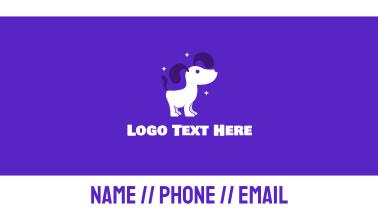 Shiny Dog Groomer Business Card
