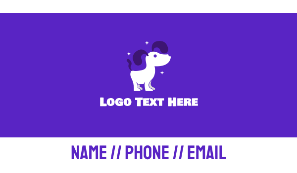 dog trainer - Shiny Dog Groomer Business card horizontal design