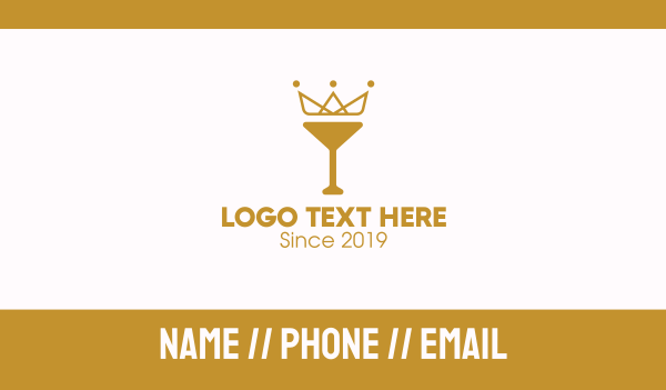 chalice - Gold Crown Chalice Business card horizontal design