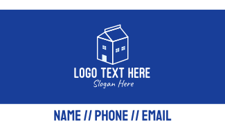 White Dairy Home Business Card