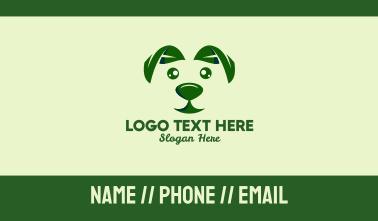 Green Natural Dog  Business Card