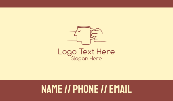 rest - Brown Face Cup Business card horizontal design