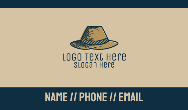private - Mobster Hat Business card horizontal design