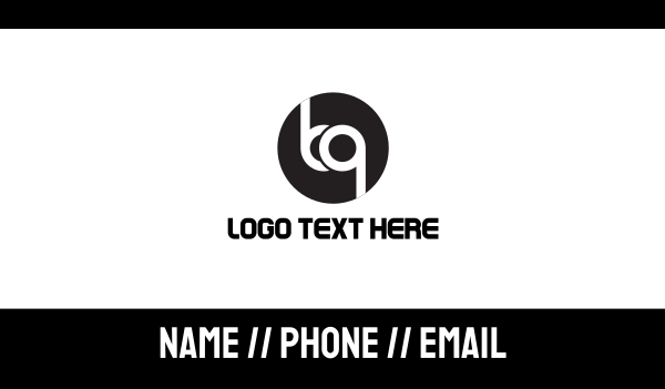 men accessories - B & Q Business card horizontal design