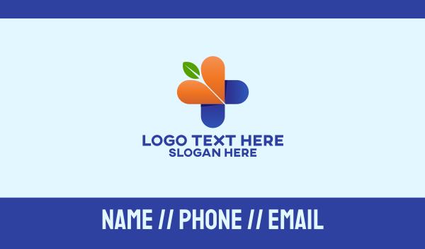 medical care - Alternative Pharmacy Business card horizontal design