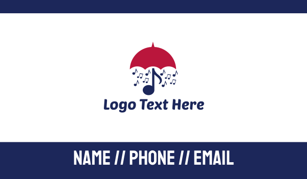 cabaret - Musical Umbrella Business card horizontal design