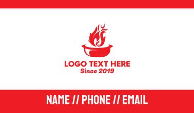 Hot Pot Fire Business Card