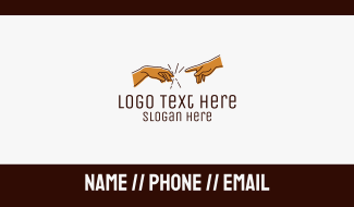Creation Hand Connection Business Card