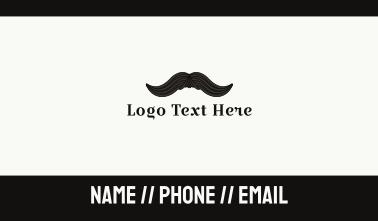 Vintage Moustache Business Card