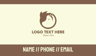 Brown Farm Animals Business Card