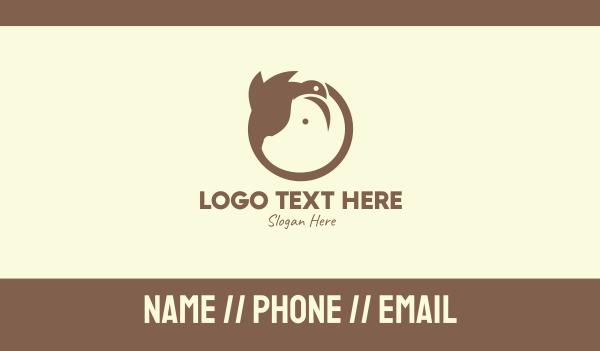hamster - Brown Farm Animals Business card horizontal design