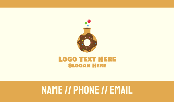 sprinkle - Donut Lab Business card horizontal design